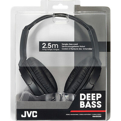JVC HARX330  Full-Size Over-Ear Stereo Headphones - Black 2.5M Cord For DJ