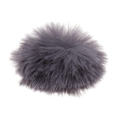 Gray Fur Windscreen Wind Muff for Lavalier Lapel Microphone Mic Gray Color