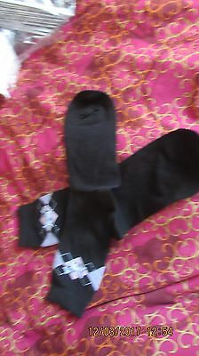 lady's black ankle socks, argyll pattern with scotty dog, new, no packing