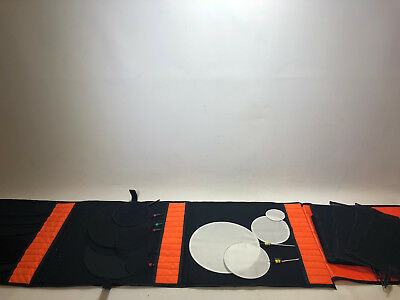 Job lot of MSE/Matthews/Unbranded lighting flex scrims, fingers & dots with case