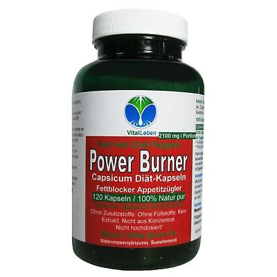 Power Burner Red Hot Chili Peppers 120 Kapseln Natur Pur #26227