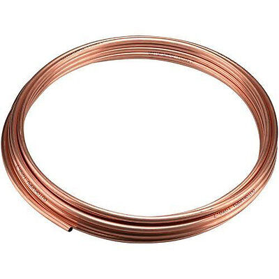 2m 8mm Copper Pipe Tube Water Gas Plumb DIY Bathroom Kitchen Build Construct