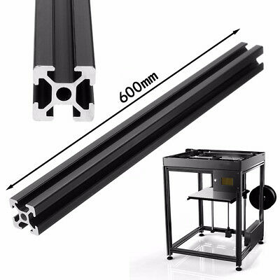 Black T-Slot Aluminum Alloy Profiles Extrusion Frame for Printer 600mm Durable