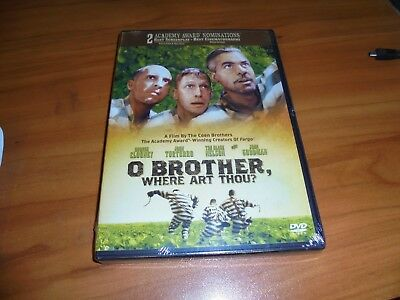 O Brother, Where Art Thou? (DVD, 2001, Widescreen) George Clooney, NEW Oh