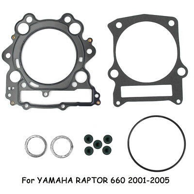 Top End Head Gasket Metal Assembly Kit Replace For Yamaha Raptor 660 01-05