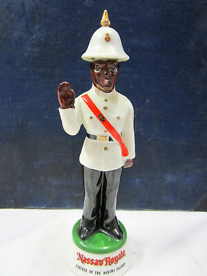 "Vintage Nassau Royale Policeman Ceramic Decanter  7½"" Tall Antique"