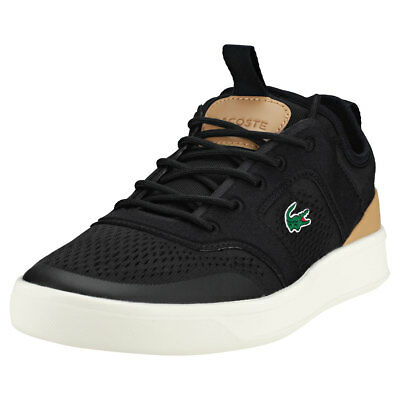 26051c7514b3f LACOSTE EXPLORATEUR CRAFT 118 1 Cam Trainers Mens Black Dk Grey ...