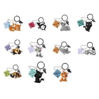 Wags & Whiskers Cat Keyring Keychains New - Select A Design From Drop Menu