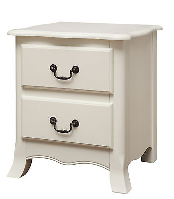 Bordeaux White Painted Bedside Cabinet / Nightstand / Bedside Table / French