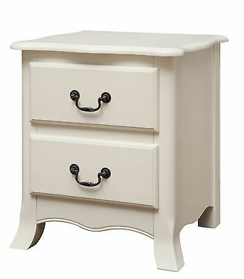 Pair Of Bordeaux White Painted Bedside Cabinets / French Style Bedside Tables