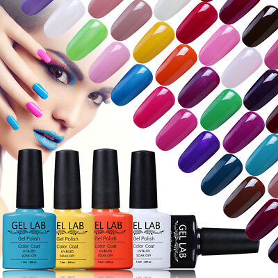 GEL LAB 7.3ml Soak off UV LED Gel Polish No Wipe Top Base Coat 79 Colors