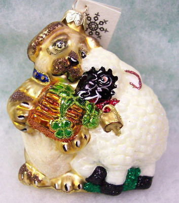 New SLAVIC TREASURES GLASS ORNAMENT - GIFT FOR A FRIEND (animal) 2000