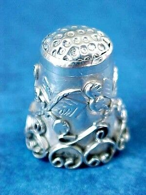 Antique Victorian Sterling Silver Thimble No.2 /  Stamped Iguala Mexico 925 MC