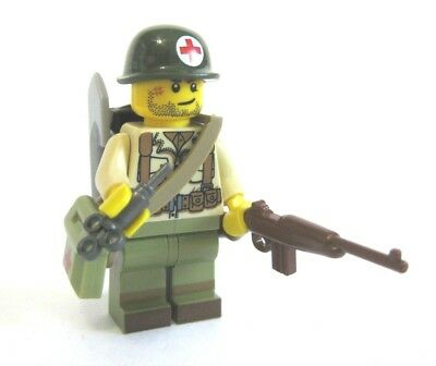 Lego Custom WW2 US MEDIC Minifigure Brickarms M1 Army Military