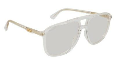 41719bded7b Authentic Gucci Pilot Sunglasses GG0262S 006 58mm Crystal   Crystal Lens