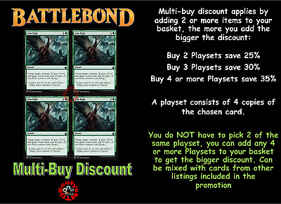 MTG Battlebond BBD Choose your Uncommon Playset (x 4 cards) New Buy 2 save 15%