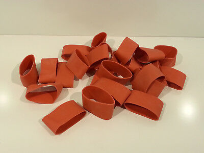 "24 ( 2 Dozen ) Rubber Bands Red 2 3/4"" x 1 1/4"" Heavy Duty & Strong"