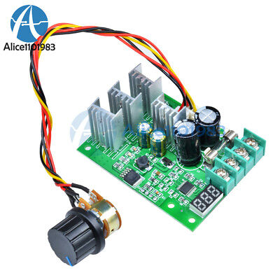 30A DC6-60V PWM Motor Speed Controller Module Dimmer Current Regulator+ Display