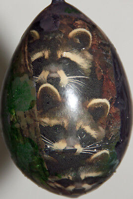 gourd Christmas ornament with raccoons