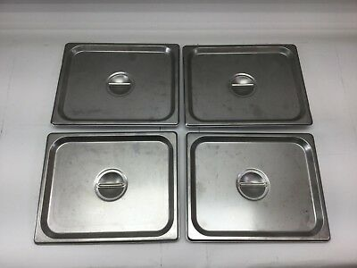 Choice 1/2 Size Stainless Steel Solid Steam Table / Hotel Pan Covers (4070120)