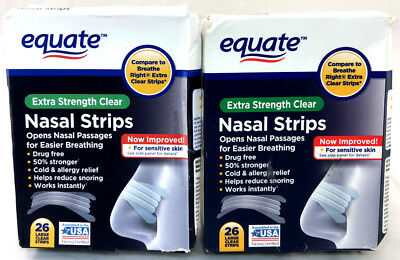 (52) Equate Nasal Strips Extra Strength Clear Strips