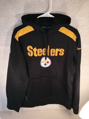 premium selection 82944 d8569 NIKE ONFIELD THERMA Fit Pittsburgh Steelers Pullover Hoodie Size Medium