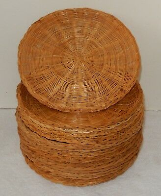 *20* Wicker Rattan Bamboo Paper Plate Holders~~LOOK~~ & 20* WICKER Rattan Bamboo Paper Plate Holders~~LOOK~~ - $9.99 | PicClick