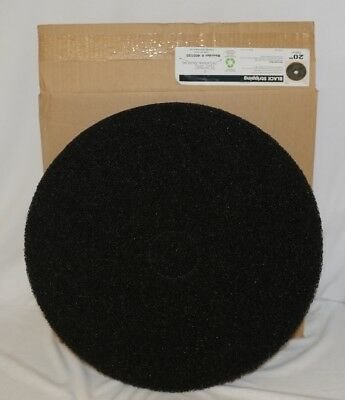Tri Lateral Sales 400120 Black Floor Stripping Pads 20 Inch 5 Pack