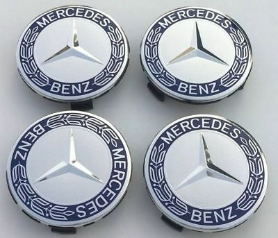 ✅NEXT DAY DELIVERY✅ Mercedes Benz Alloy Wheel Centre Caps 75mm Badges  A C E G S