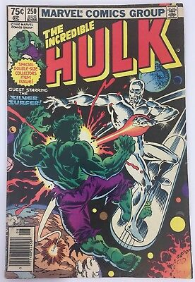 ESTATE SALE FIND The Incredible Hulk #250 Aug 1980 Silver Surfer