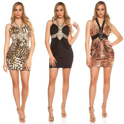Mini Dress Koucla Attillato Neckstrap in Animalprint