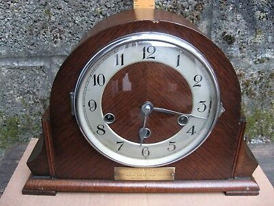 Haller Westminster Chiming Mantle Clock / Excellent Working Order.