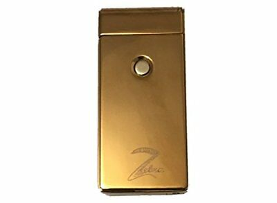 USB Rechargeable Windproof Double Arc Lighting Bolt Rectangle Lighter (Gold)