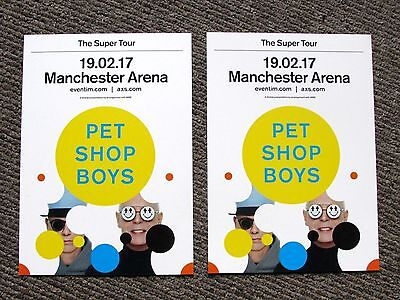 Pet Shop Boys The Super Tour 2017 Manchester Arena Promotional Flyers x 2