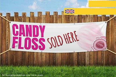 Candy Floss Sold Here Heavy Duty PVC Banner Sign 3239