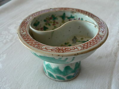 Antique Chinese Famille Stem Cup 19th century