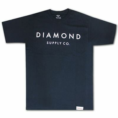 Diamond Supply Co Stone Cut Premium Cotton T-shirt Navy
