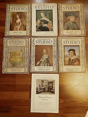 Lot of 7 Vintage International Studio Collector Magazines 1920's & 30's