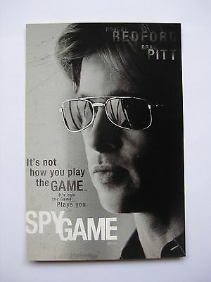 SPY GAME 2002 Orig Australian movie postcard Brad Pitt Robert Redford