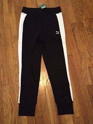 5906acf330 NWT PUMA Womens Archive Logo T7 Sweatpants Joggers Cotton Black size S Small