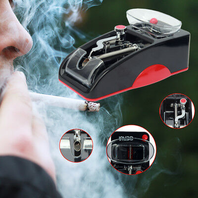 Electric Automatic Cigarette Rolling Machine Tobacco Injector Maker Roller Red