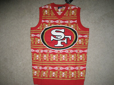 San Francisco 49ers Ugly Christmas Sweater Vest Classic Aztec Print
