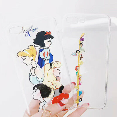 Cartoon Silicone Disney Snow Princess TPU Case For iPhone XS Max XR 8 7 6 Plus
