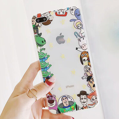 Toy Story Disney Shockproof Silicone TPU Case Cover For iPhone X 8 7 6/6s Plus
