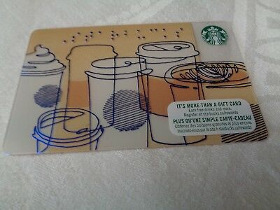 Starbucks Newest  BRAILLE Gift Card - released 2018