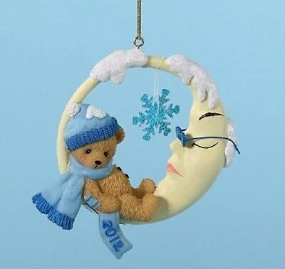 "Cherished Teddies 2012 Dated Ornament ""snowy Dreams"" #4023651 New  Free Shipping"