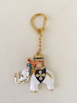 Feng Shui Power Elephant With Warrior Amulet Tailsman Keychain