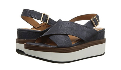 0005537aaa3 Patrizia Spring Step Kristina Womens Navy Platform Sandals 7.5 (38) New in  box