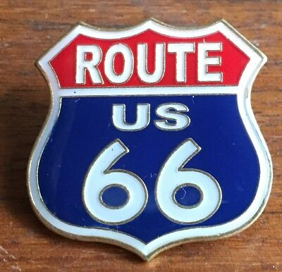 Route 66 Shield Lapel tie pin badge hat - State Name Versions Also Available