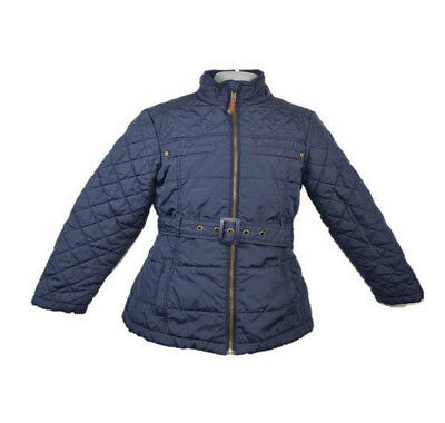 Girls NEXT Blue Quilted Coat Size Age 7-8 Years